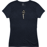 Magpul Women's Hula Girl Tri-Blend T-Shirt Navy