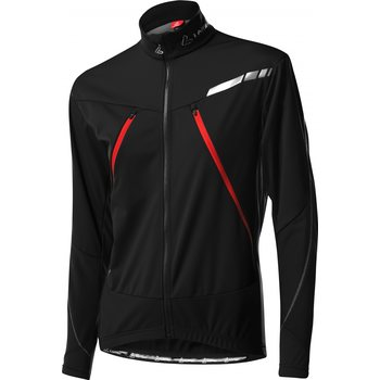 Löffler Ventoux Windstopper Soft Shell Light, Black/Red, 48