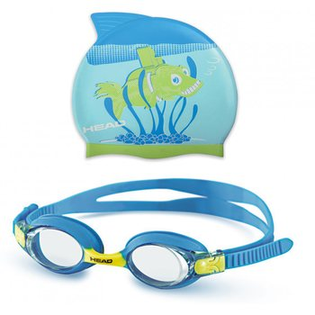 Head Goggle Set Meteor Character, Blue/Lime
