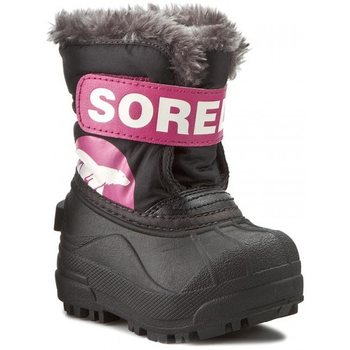 Sorel Toddler Snow Commander, Black, Haute Pink, 21 (US 4)