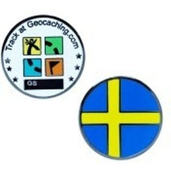 Groundspeak Country Micro Geocoins, Sweden