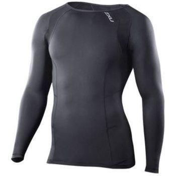 2XU Compression Long Sleeve Top, Musta/musta, S
