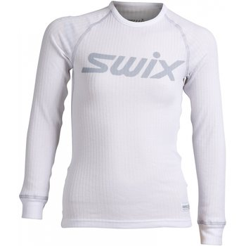 Swix RaceX bodyw LS Juniors, Bright White/Cold Grey, 116/6Yrs