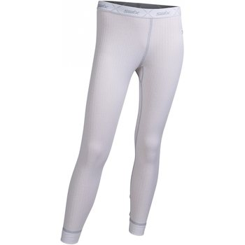 Swix RaceX bodyw pants Juniors, Bright White/Cold Grey, 116/6Yrs