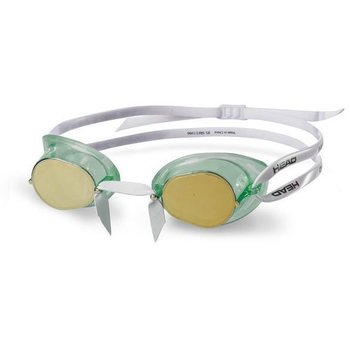 Head Racer Mirrored (Swedish TPR), Clear Green/Gold