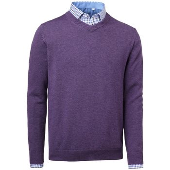 Chevalier Gary Wool Pullover w. patch, Lila, XL
