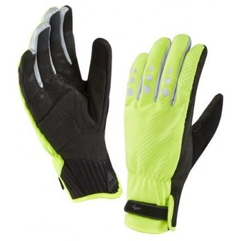 Sealskinz All Weather Cycle Gloves, Keltainen/musta, S