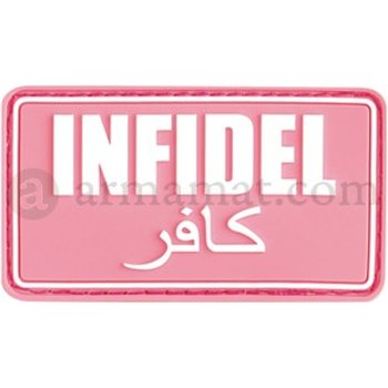 Clawgear Infidel Rubber Patch, Pink/White