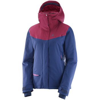Salomon QST Snow JKT W, Medieval Blue / Beet Red, L