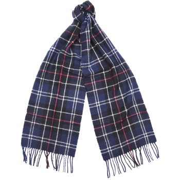 Barbour Tartan Lambswool Scarf, Navy / Red