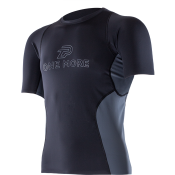 Zero Point M's Athletic SS Top, Black Titanium, S
