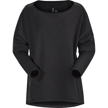 Arc'teryx Nyara Boatneck Pullover Womens, Black Heather, L