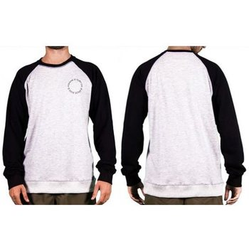 Asenne Raglan Crewneck, Misty Grey / Black, S