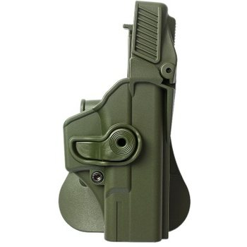 IMI Defense Polymer Retention Paddle Holster Level 3 for Glock 19/23/25/28/32 pistols, OD Green