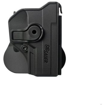 IMI Defense Polymer Retention Paddle Holster for Sig Sauer P250 Compact, P320, Black