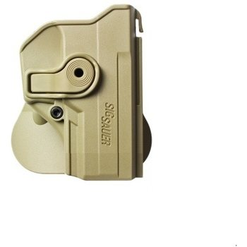 IMI Defense Polymer Retention Paddle Holster for Sig Sauer P250 Compact, P320, Tan