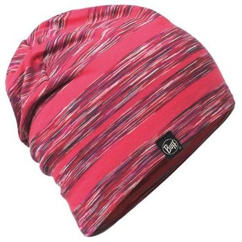 Buff Cotton Hat, Wild Pink Stripes