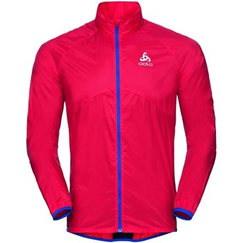 Odlo Jacket Omnius Men, Fiery Red - Energy Blue, S
