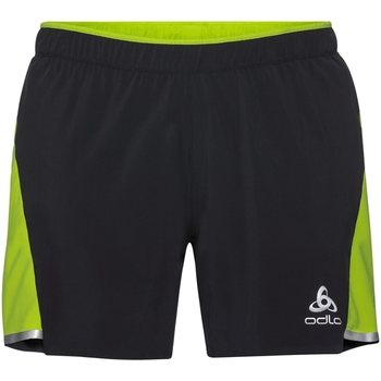 Odlo 2-in-1 Shorts Zeroweight Ceramicool, Black - Acid Lime, XL