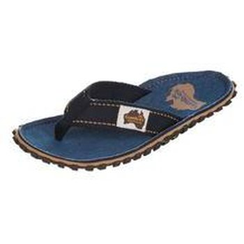 Gumbies Islander Canvas Flip-Flops Dark Denim Men, Denim, 42