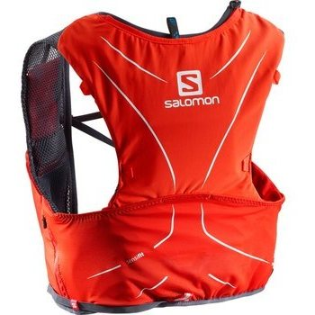 Salomon S-Lab Adv Skin 5 Set juoksureppu, Fiery Red/Graphite, 2XS