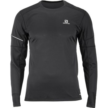 Salomon Agile LS Tee M, Black, L