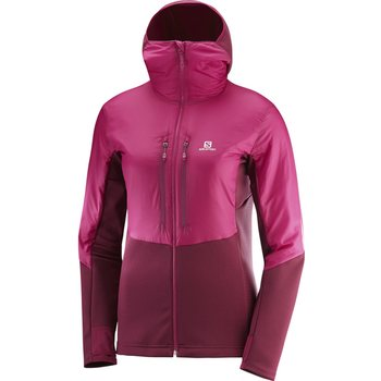 Salomon Drifter Air Mid Hoodie W, Cerise / Beet Red, S