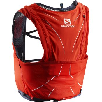 Salomon S-Lab Advanced Skin 12 Set, Fiery Red/Graphite, 2XS