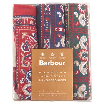 Barbour Paisley Hankies - Boxes Set, One Size