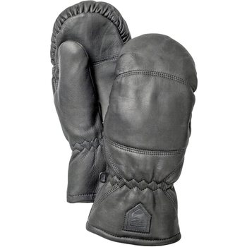 Hestra Leather Box Mitt, Black, 9