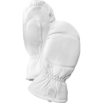 Hestra Leather Box Mitt, Offwhite, 7