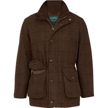 Alan Paine Combrook Mens Tweed Shooting Field Coat - Classic Fit, Woodland, 50 (M)