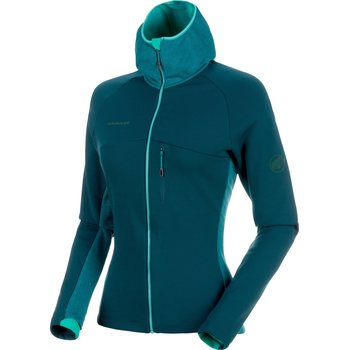 Mammut Aconcagua Pro ML Hooded Jacket Women, Teal - Atoll Melange, S