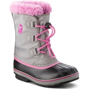 Sorel Youth Yoot Pac Nylon, Chrome Grey / Orchid, 33 (US 2)