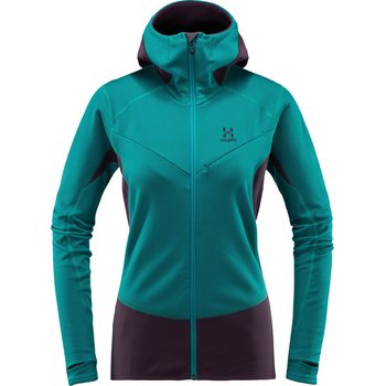 Haglöfs L.I.M Touring Hood Women, Alpine Green / Acai Berry, S