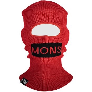 Mons Royale West Star Balaclava, Bright Red