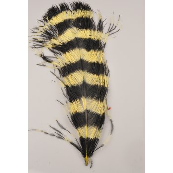 Silvergrey Ostrich 50-55 cm, Yellow / Black