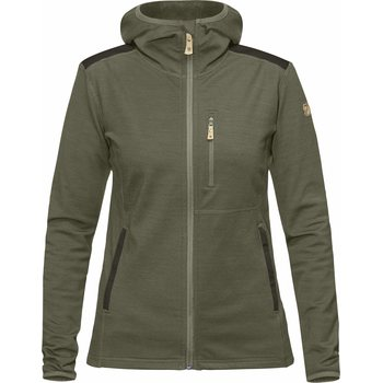 Fjällräven Keb Fleece Hoodie Women, Laurel Green/Deep Forest (625-662), XS