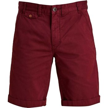 Barbour Neuston Twill Shorts, Dark Raspberry, 38