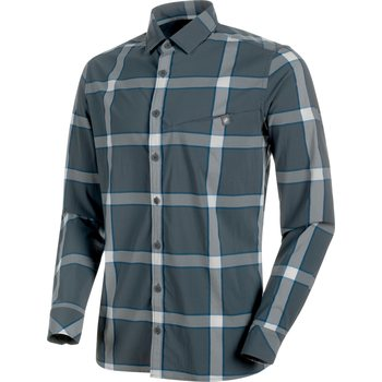 Mammut Mountain Longsleeve Shirt Men, Storm-Soft White-Surf, S