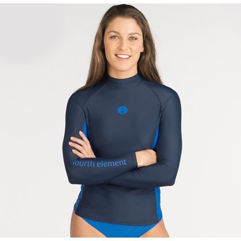 Fourth Element Long Sleeve Hydroskin Women's, Navy / Blue, UK 8