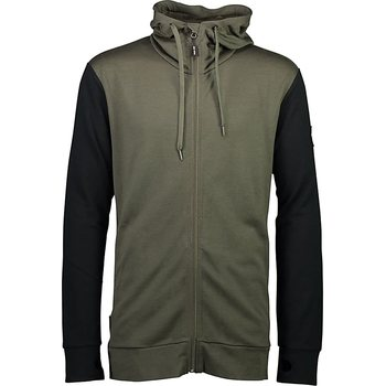 Mons Royale Covert Mid-Hit Hoody M, Olive / Black, S