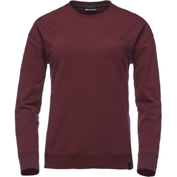 Black Diamond Ridge Logo Crew Womens, Bordeaux, S