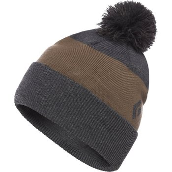 Black Diamond Pom Beanie, Smoke-Walnut