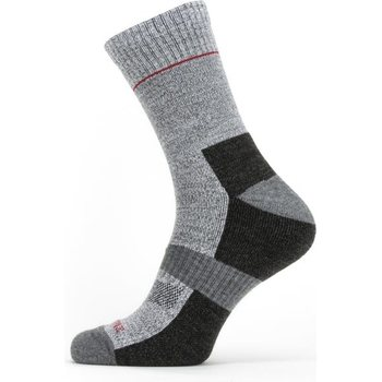 Sealskinz Solo QuickDry Ankle Length Sock, Black/Grey/Red, XL
