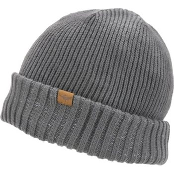 Sealskinz Waterproof Cold Weather Roll Cuff Beanie, Grey, XXL