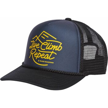 Black Diamond Flat Bill Trucker Hat, Carbon/Sulphur