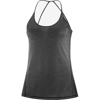 Salomon Comet Tank Women, Black/Ebony/Heather, M