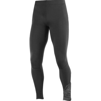 Salomon Agile Long Tight Mens, Black / Reflective, XL