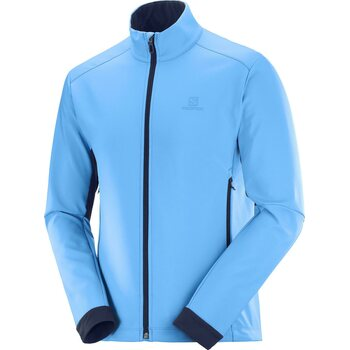 Salomon Agile Softshell Jacket Mens, Blithe / Night Sky, M